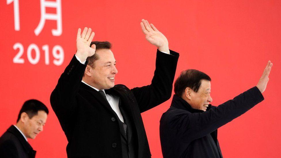 "Elon Musk and Shanghai""s Mayor Ying Yong"