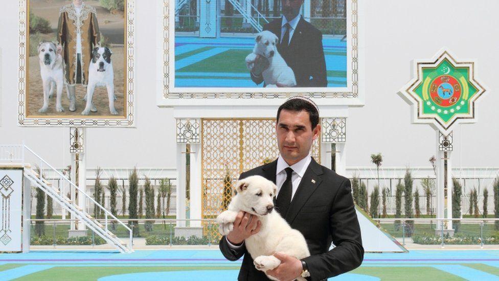 Turkmenistan's Deputy Prime Minister Serdar Berdymukhamedov is pictured during celebrations for a national holiday