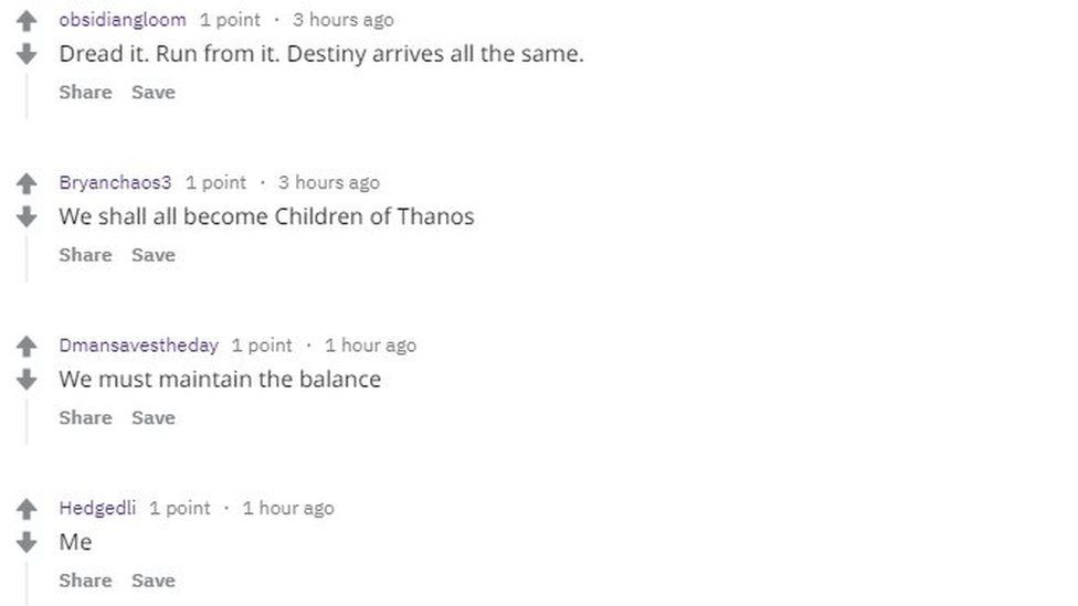 A thread on Reddit discussing the ban