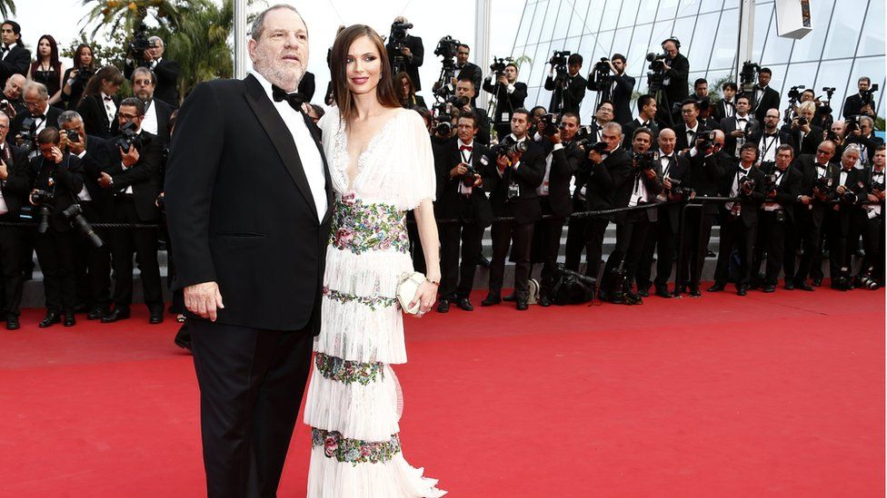 Harvey Weinstein and his wife Georgina Chapman at the Cannes Film Festival