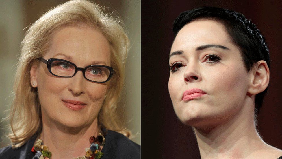 Meryl Streep and Rose McGowan
