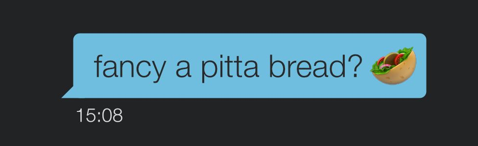 A message on Grindr - fancy a pitta bread?