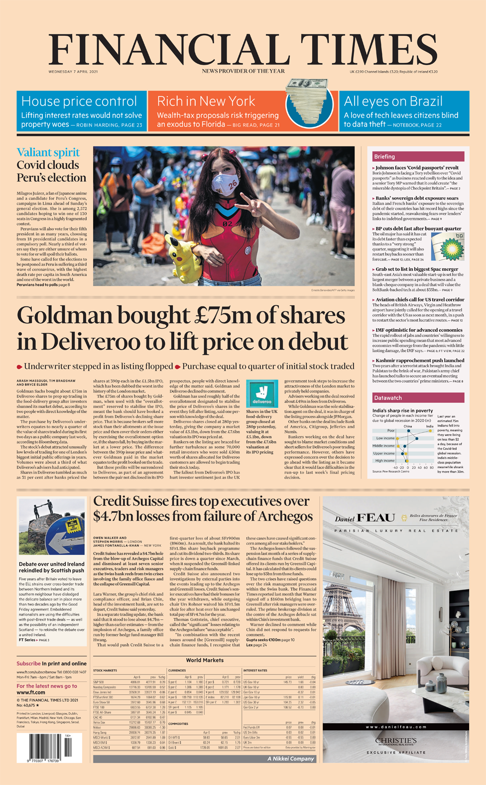 Financial Times Wednesday