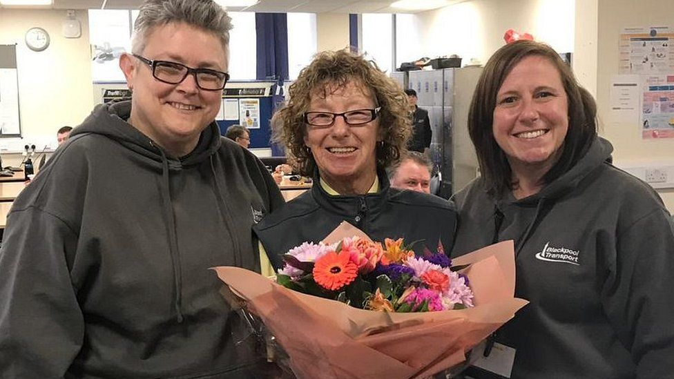 (L-R) Mandy Davies head of operations for Blackpool Transport, Kath Smith and Sally Shaw director of people and stakeholders