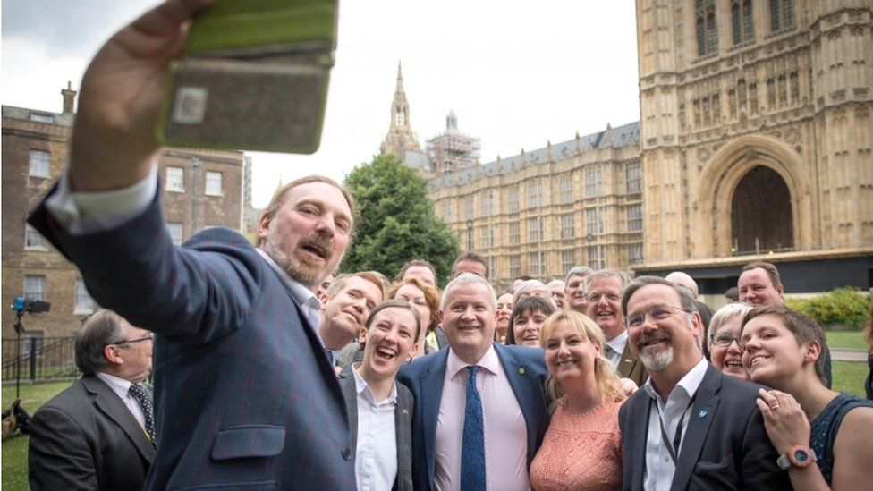 SNP MPs on College Green