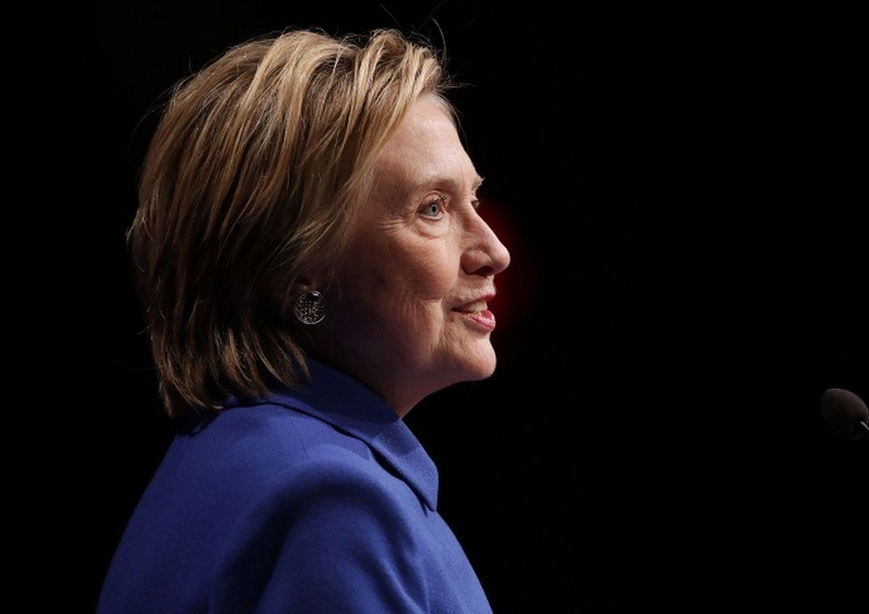 Former Secretary of State Hillary Clinton pictured on 16 November, 2016 in Washington, DC. This was the first time Clinton had spoken in public since conceding the presidential race to Republican Donald Trump.