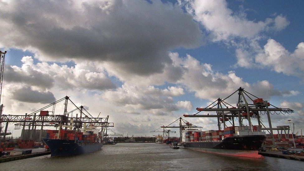 The Dutch port of Rotterdam is the largest in Europe.