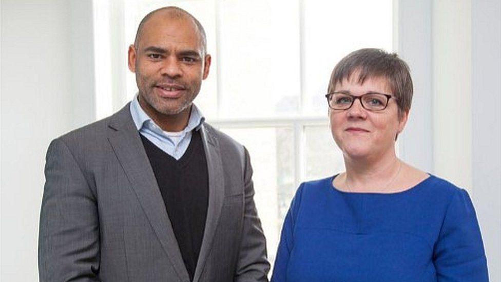 Bristol mayor Marvin Rees and former city council chief executive Anna Klonowski
