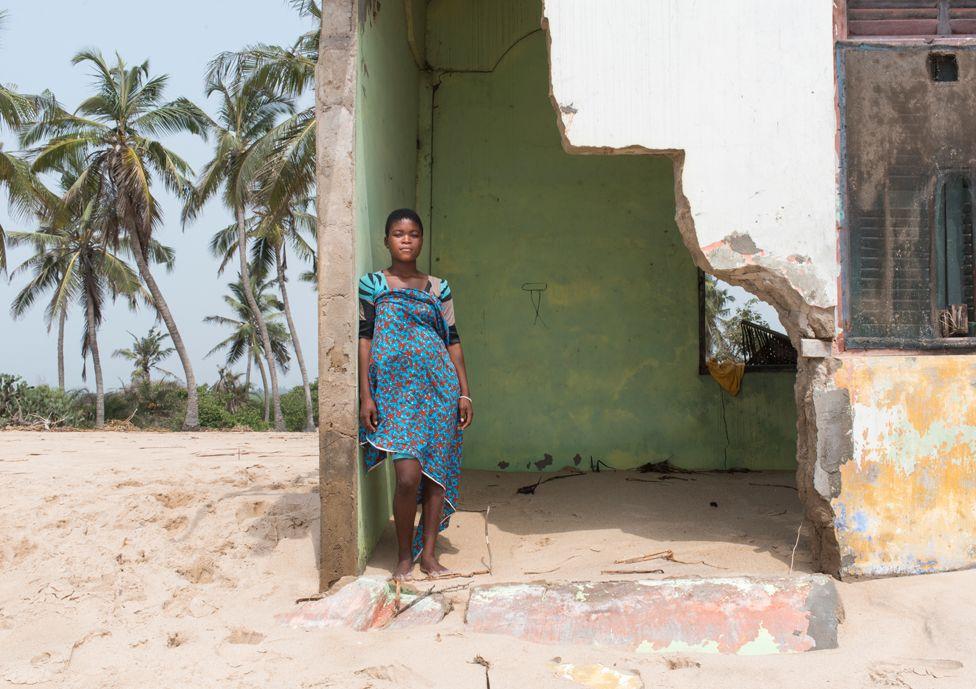 A resident of Fuvemeh, Ghana