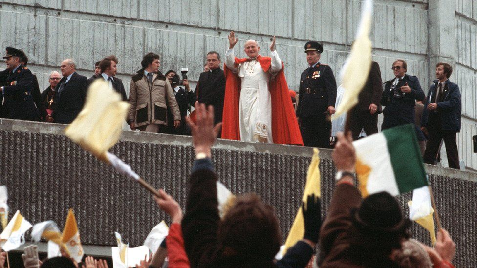 Pope John Paul II during his visit to Ireland in 1979