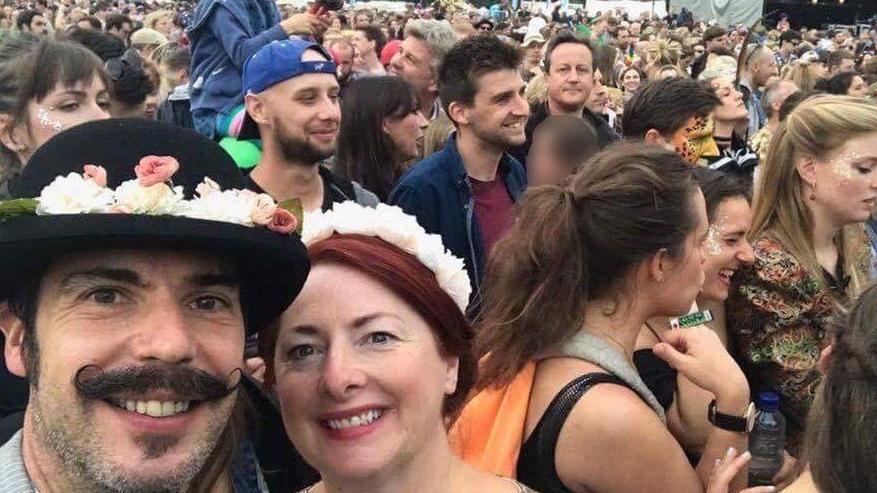 David Cameron photobombed a Labour activist's selfie at Wilderness Festival