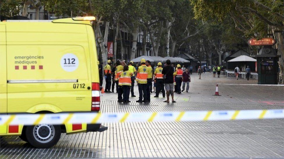 Scene of Barcelona attack