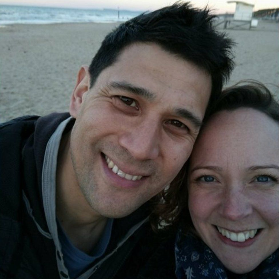 Erin Thomas Wong and her husband Dom