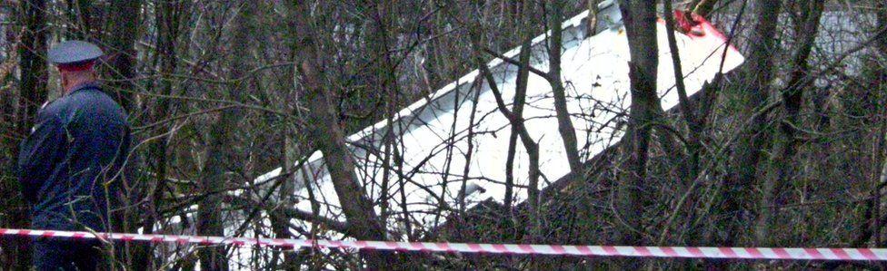 Wreckage of Tupolev near Smolensk (April 2010)