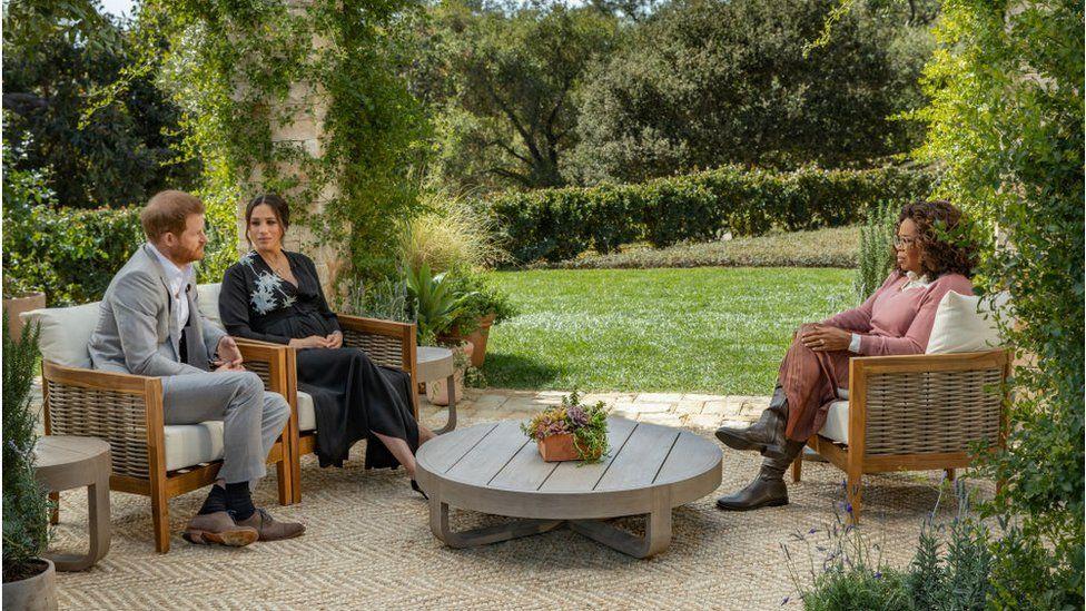Prince Harry and Meghan Markle spoke with Oprah Winfrey