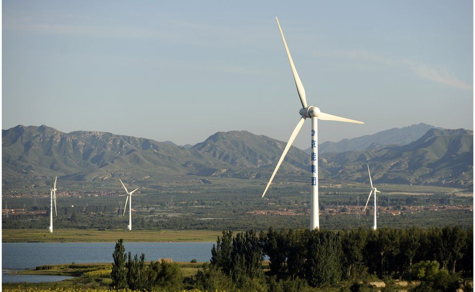 File picture of wind farm in China