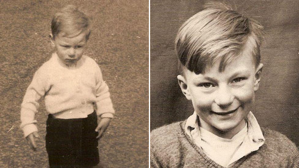 Composite of Carolyn as a boy