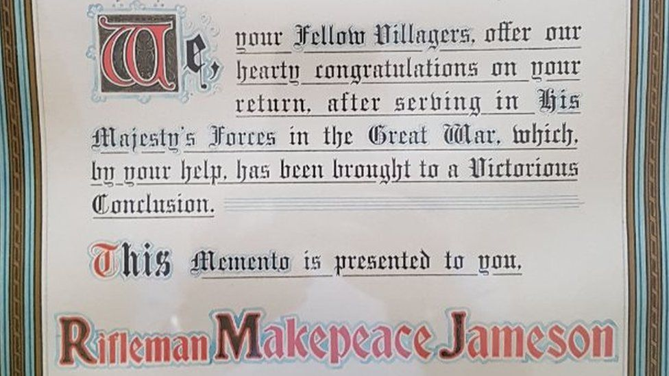 Makepeace's certificate