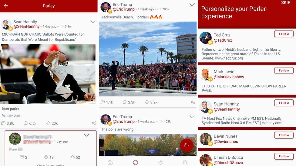 Parler Free Speech App Tops Charts In Wake Of Trump Defeat Bbc News