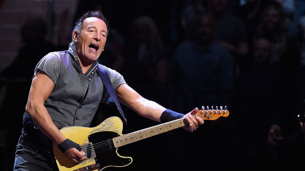 Bruce Springsteen performs onstage at Madison Square Garden in New York