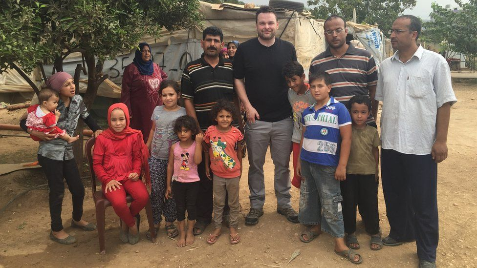 Reporter Declan Lawn travelled to Lebanon to meet Syrian refugees