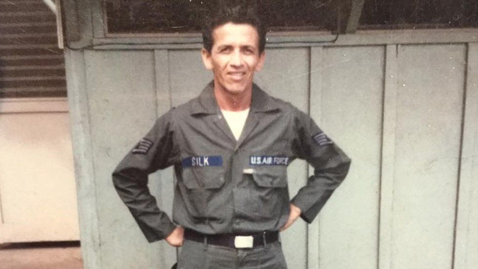 Photo of Laurence Dunn, when he was serving in the US Air Force