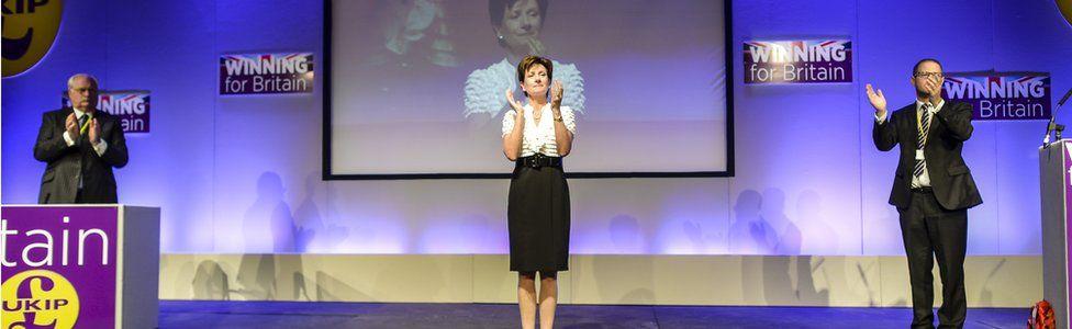 Diane James at UKIP's 2016 conference