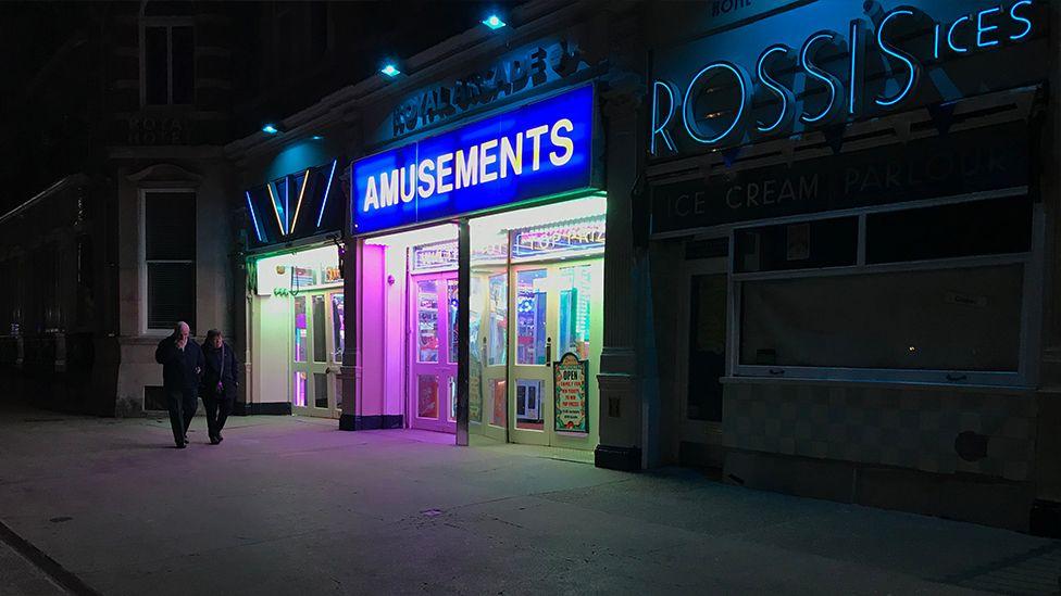 An amusement arcade in West Dorset