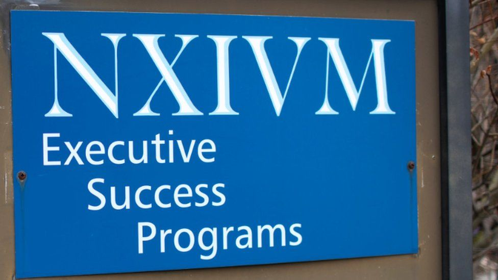 Nxivm sign in Albany, US
