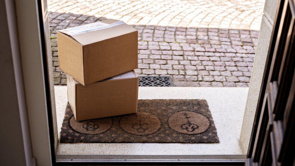 Parcels on a doorstep