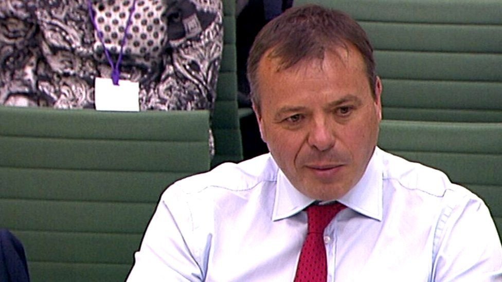 Arron Banks before the Digital Culture Media and Sport Select Committee in June
