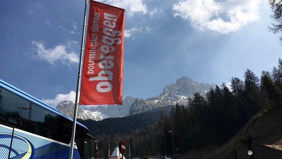 Obereggen ski resort in the Dolomites