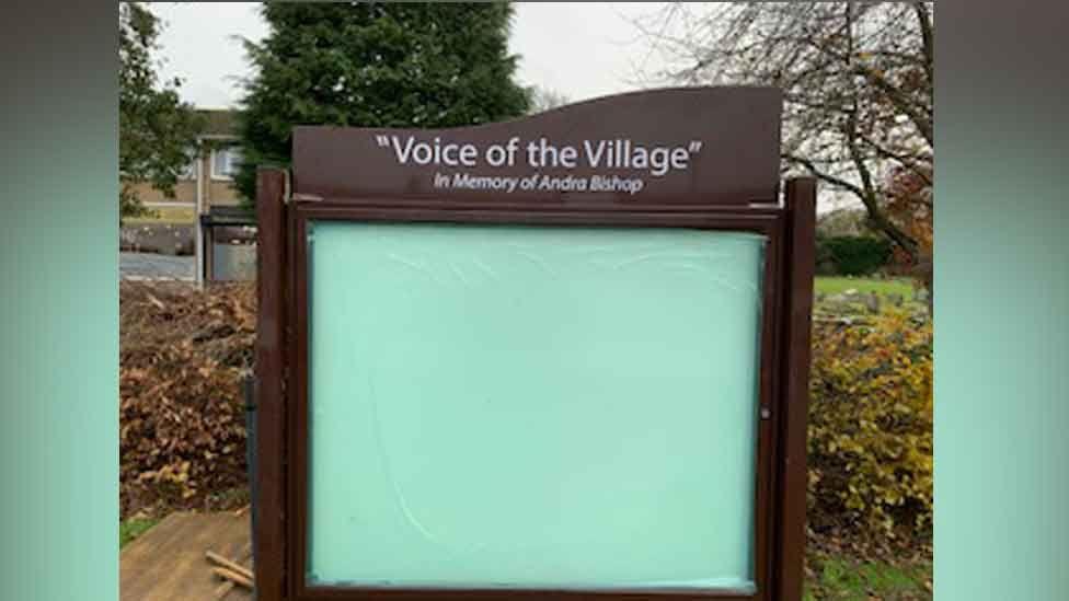 Harlington notice board