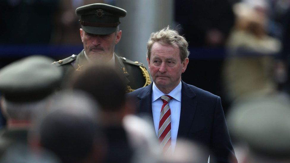 Enda Kenny also attended the ceremony at the GPO