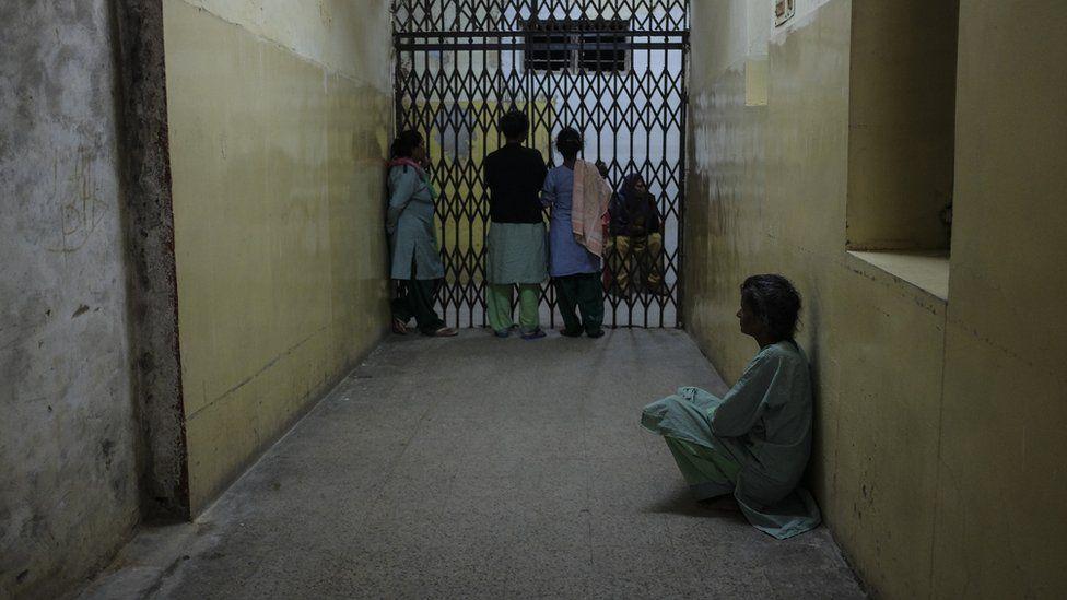 Women inside a mental hospital in Delhi