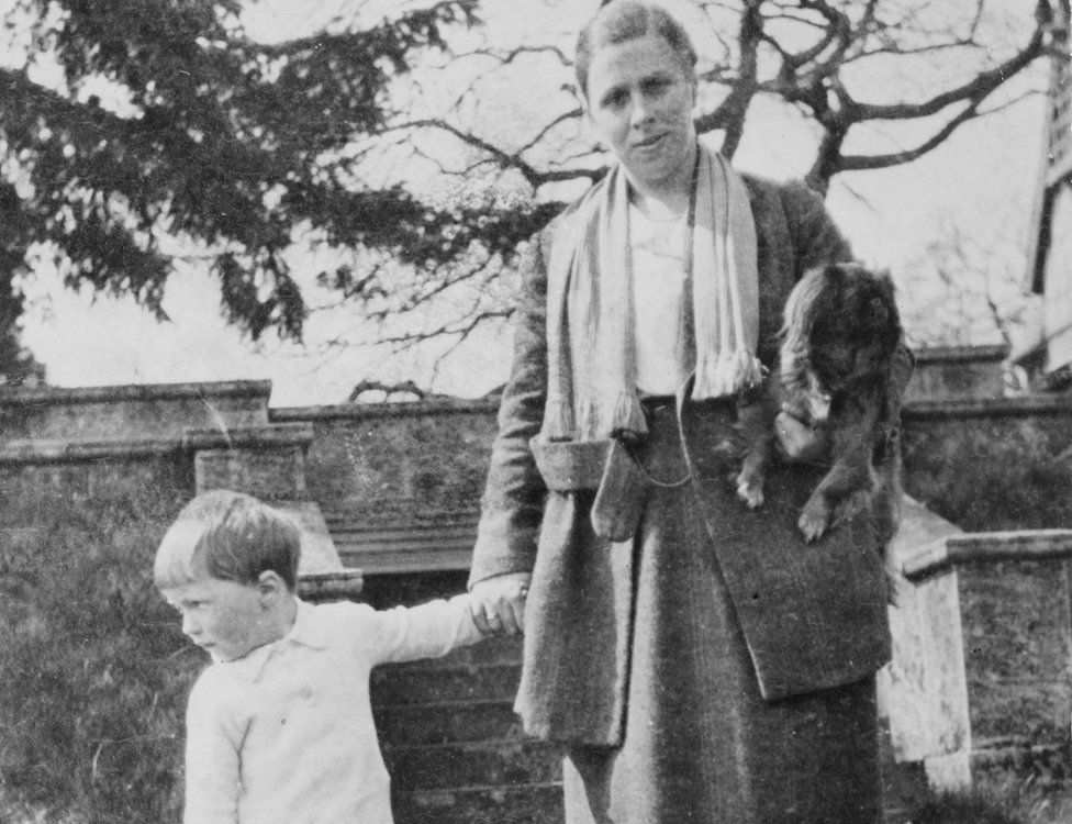 Roald Dahl and his mother Sofie