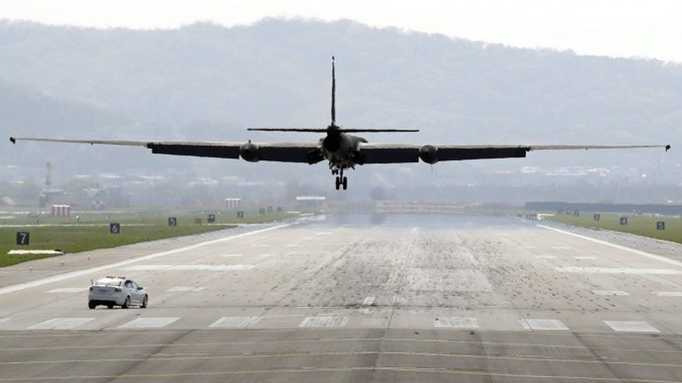 A U2 spy plane deploys from South Korea as the US monitors activity in the North, 24 April 2017