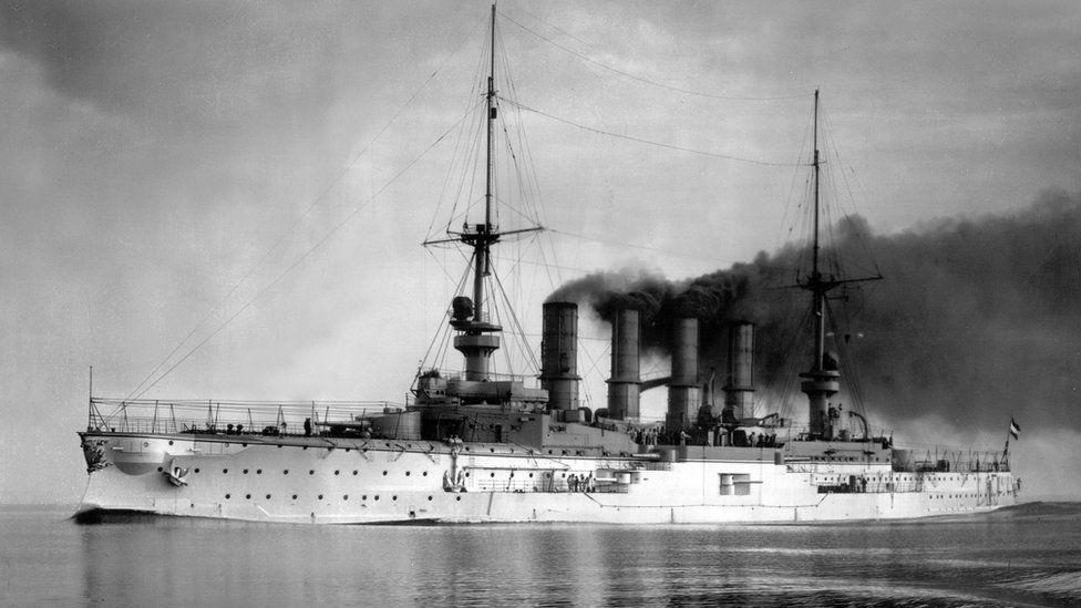 El barco alemán de la I Guerra Mundial que fue encontrado hundido frente a las costas de las islas Malvinas/Falkland