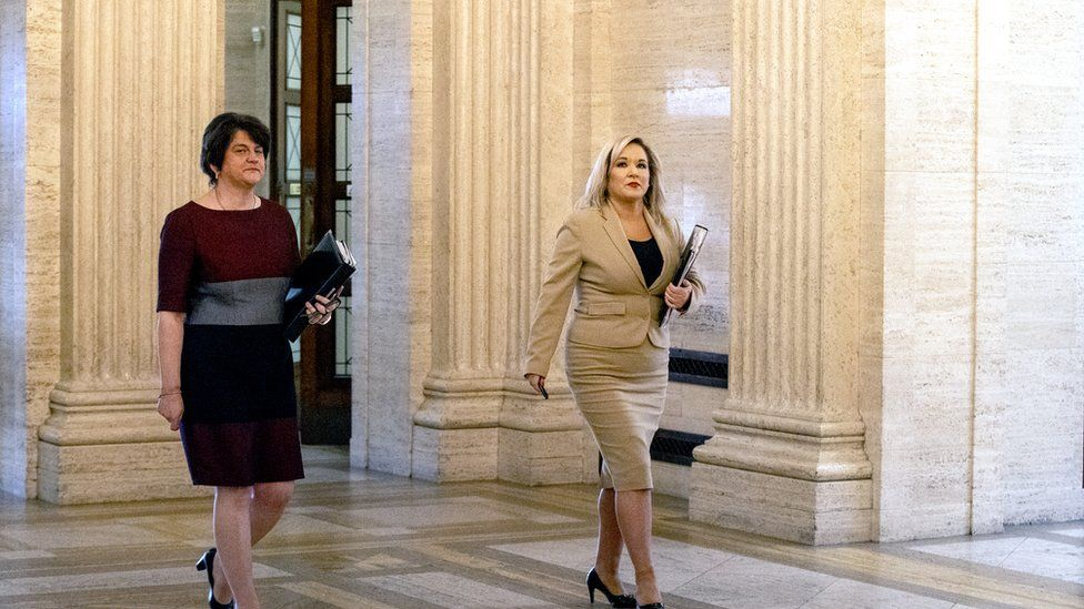 Michelle O'Neill and Arlene Foster announced the plan at Stormont
