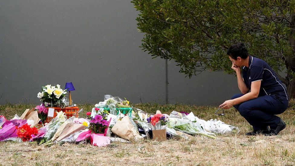 Flowers left in tribute to Aiia Maasarwe