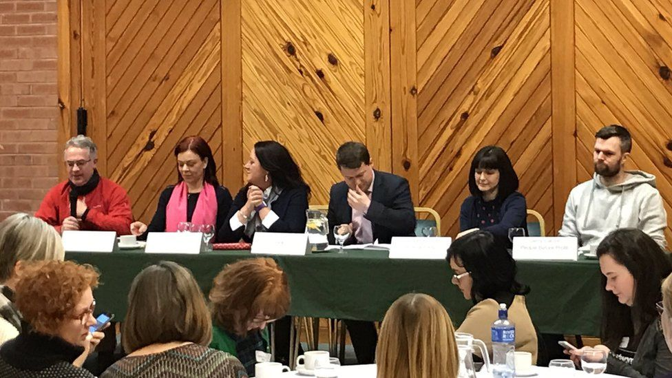 Election candidates at the sexual health hustings
