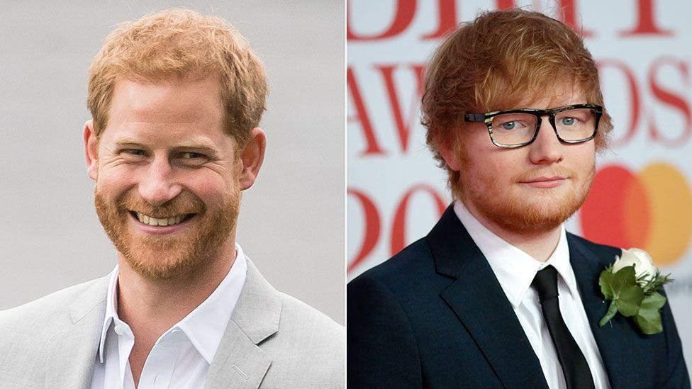 Prince Harry and Ed Sheeran