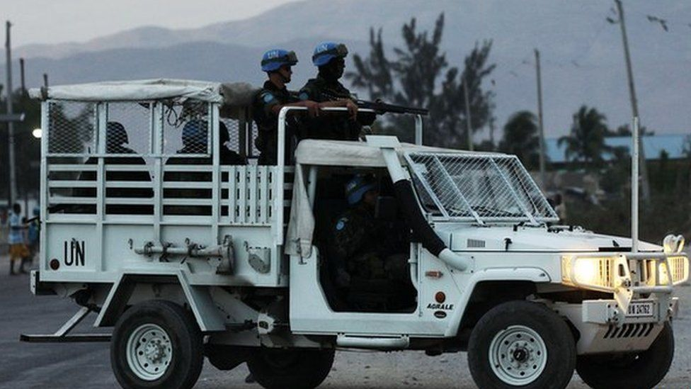 UN peacekeepers in Haiti. File photo
