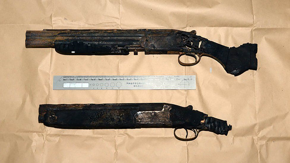 The guns have been forensically examined
