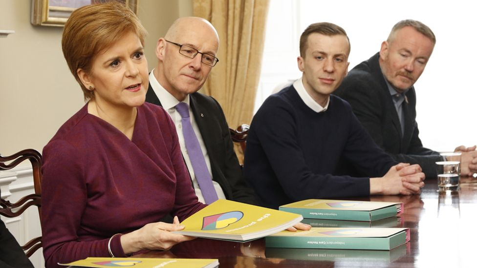 Nicola Sturgeon and John Swinney are the launch of the review