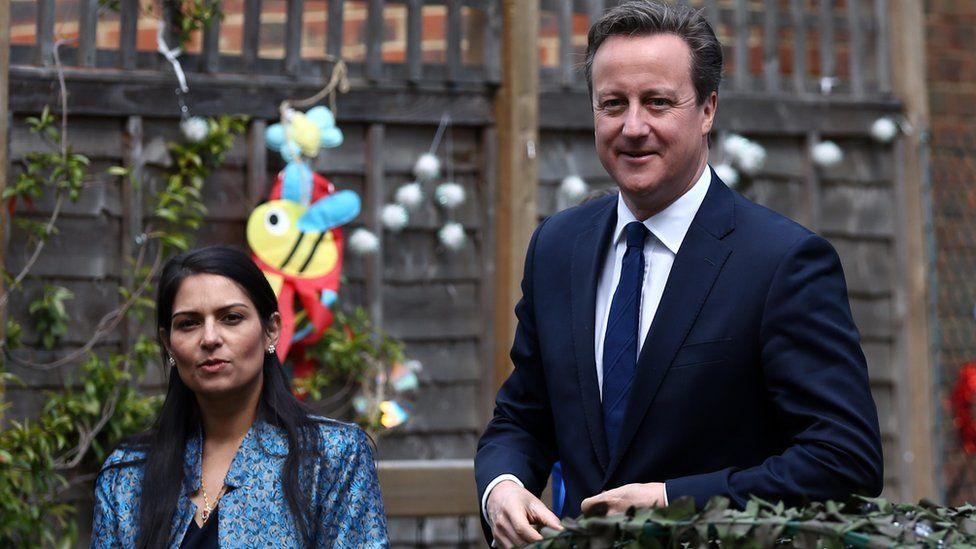 Priti Patel and David Cameron in 2015