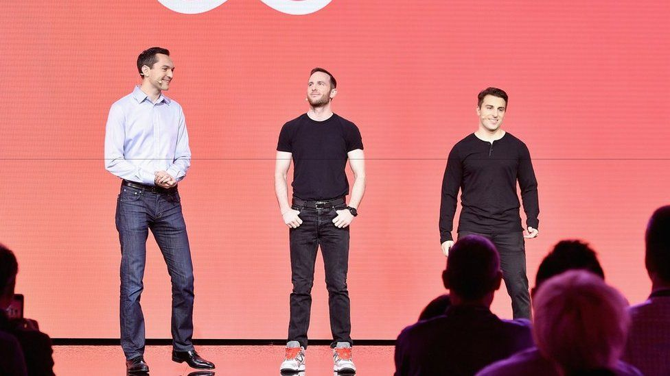 AirBnB was founded by (L-R) Nathan Blecharczyk, Joe Gebbia, Brian Chesky