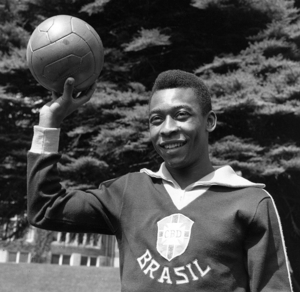 Pele, pictured in 1963