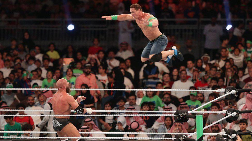 Triple H and John Cena in Jeddha