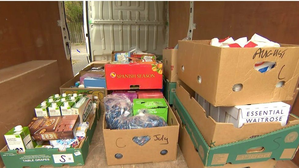 Donations at Horncastle Food Bank